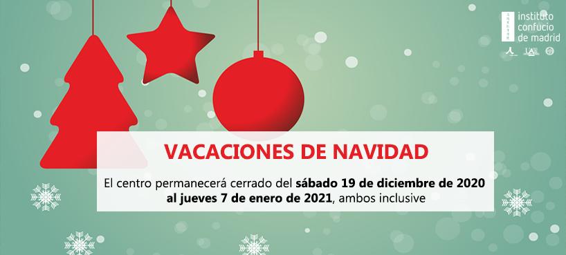 Vacaciones de Navidad Instituto Confucio de Madrid