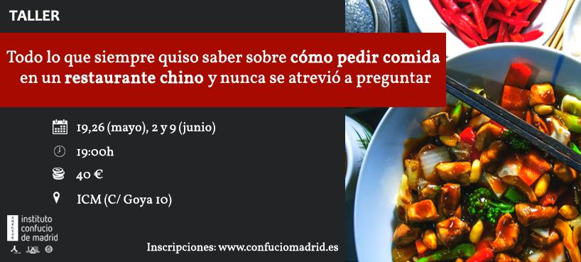 Taller carta restaurante Instituto Confucio de Madrid