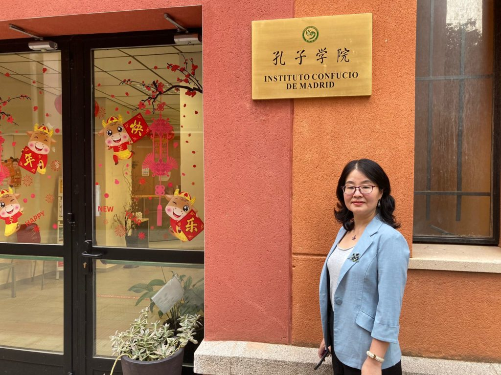 Profesora Zhang Yan en el ICM